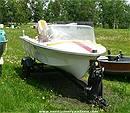 Picture: Chrysler Cadet 15 Fiberglass Boat w/ Trailer & Engine