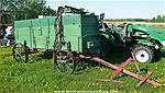 Picture: Antique Grain Wagon w/Hook up for Horses or Tractor, Driver Seat, Steel Wheels, Side Rails