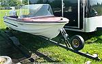 Picture: Anchor 12 Fiberglass Boat w/Motor & Trailer