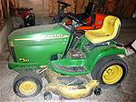 Picture: JD-235  18 Hp Hydrostat Riding Lawn Tractor w/48 Mower Deck
