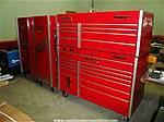 Picture: Snap-On KLR-761-A Mechanics Lower Roll Cabinet, KLR-791A Mechanics Upper Top Box, 2-Snap-On KRL-721B Mechanics Roll Chests