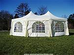 Picture: 16 ft x 22 ft Marquee Event Tent, w/320 sq.ft, One Zipper Door, 7 Windows, H Frames & Fabrics