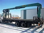 Picture: 1997 Ford 8000 Louisville T/A Deck Truck w/1997 Palfinger 25 Straight Boom Wall Board Crane  17.7MT