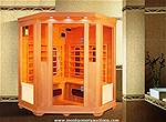 Picture: 4 Person Infrared Cedar Wood Corner Sauna