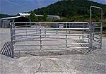 Picture: 45-(New)6ft X 10 Ft 6 Bar Heavy Duty Galvanized Corral Panels, 4-(New)Heavy Duty Galvanized Corral Panel Gates