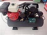 Picture: 2-(New)Alton GW150L 40 Gallon Field Air Compressor, C/W 2 Stage, 15HP Engine, Electric Start. EPA Certified