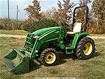 Picture: 2007 John Deere 3120 MFWD Compact Tractor w/300CX FEL - Less than 700hrs, (29Hp) Hydrostatic, 3PT, mid & rear PTO