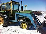Picture: JD4020 Tractor w/FEL, Grapple & Cab