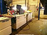 Picture: 1100 Litre Bulk Oil Tanks/Shop Bench Combinations w/Pneumatic Pumps & Filter Systems