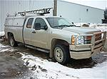 Picture: 2009 Chev Silverado LT 2500HDw/Gas Eng, AT, LB, 4 Dr Ext. Cab -119,267 KM w/Nortruck T-Canopy 8 FT Service Cap