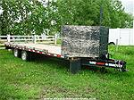 2008 TRAILTECH 24' FLATDECK EQUIPMENT TRAILER, Image 1